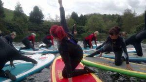 Yoga fun on the river